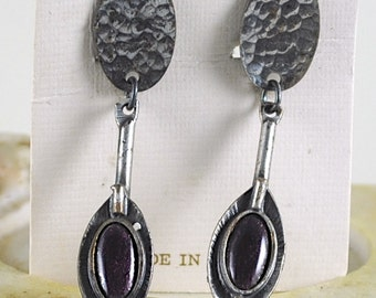 Vintage Silver Toned Earrings Made in Spain