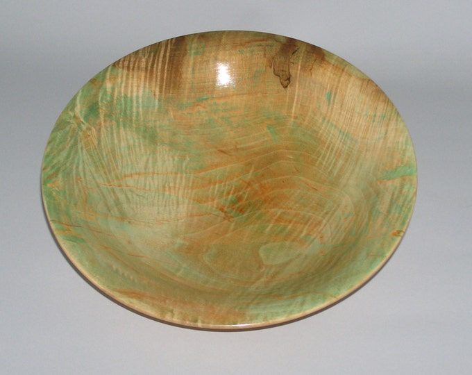 maple bowl dyed with a hint of green