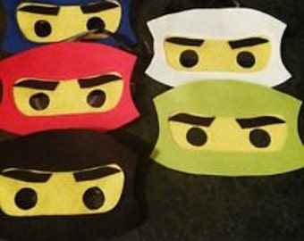 Ninjago inspired foam party masks for kids