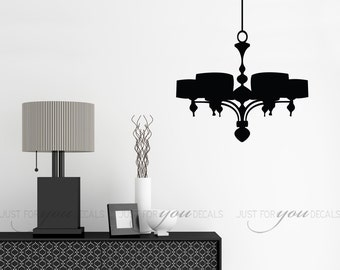 Chandelier Wall Decal - Living Room Wall Decal - Dining Room Wall Decal - Kitchen Wall Decal - Custom Wall Decal - 13-0014