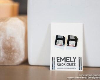 Floppy Disk Stud earrings