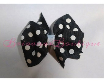 Polka Dot Pinwheel Hair Bow