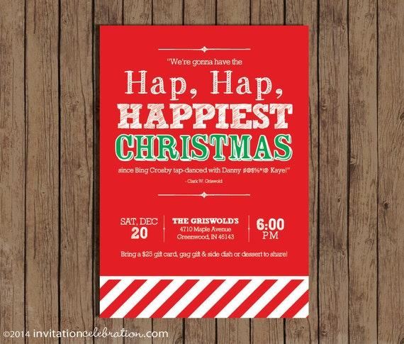 Christmas Vacation Party Invitation Clark Griswold Quote – Digital Party Invitations