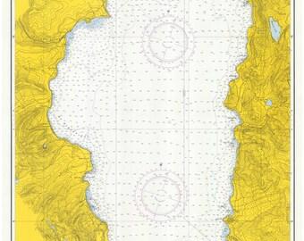 Lake Tahoe 1971 Nautical Map  Reprint California