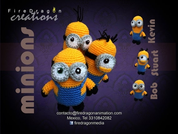 Amigurumi Minion Etsy : Items similar to Amigurumi Minions on Etsy
