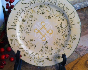 Hand Painted Ceramic St.Patrick's Day Plate