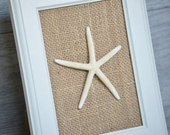 Starfish Home Decor Wall Art - Beach Home Decor - Shabby Chic Beach Decor - Coastal Decor - Starfish Bathroom Wall Decor - Mothers Day Gift