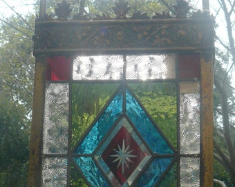 Edwardian Stained Glass Lantern