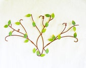 Vintage  Metal Wall Hanging,  Indoor Outdoor Wall Decoration, Nature Inspired Garden Wall Hanging, 3D Green Leaf Wall Art