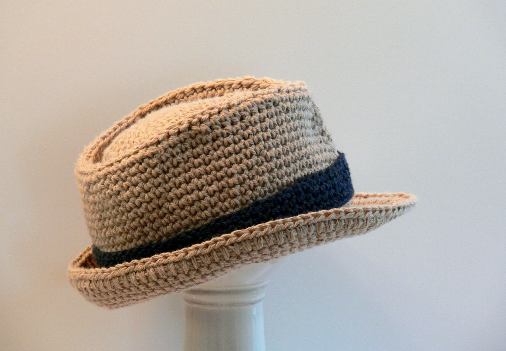 Fedora Hat Pattern To Crochet Pattern Trilby Fedora Crochet Wool Mtm