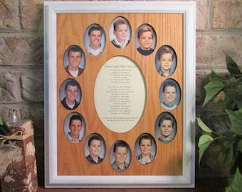 school years frame collage k 12 graduation oval white picture frame oak matte 11x14