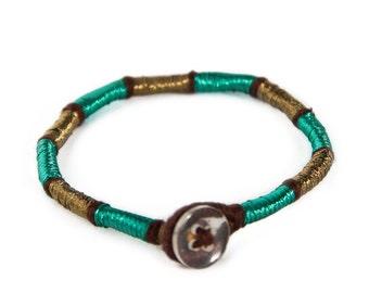 Handmade thread single stack bracelet