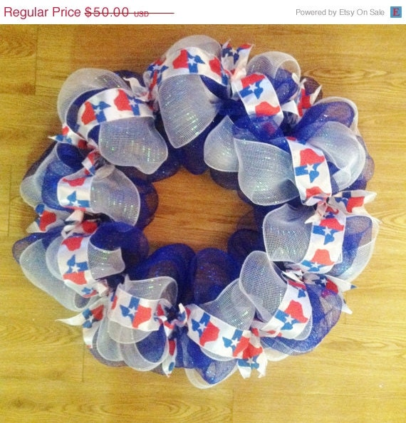 SALE20%OFF Texas Themed Wreath Home Decor By TheCrossedCupcake