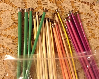 Knitting Needles, Single Point, 14 Inch, Plastic, Unbranded, Vintage, Single Pairs, Small Lots, Sizes 5 thru 13