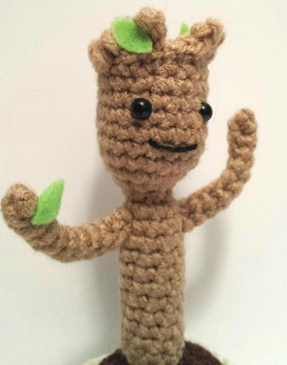 Amigurumi Groot Patron : Dancing Baby Groot Amigurumi Pattern