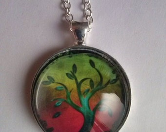tree of life picture pendant neckkace