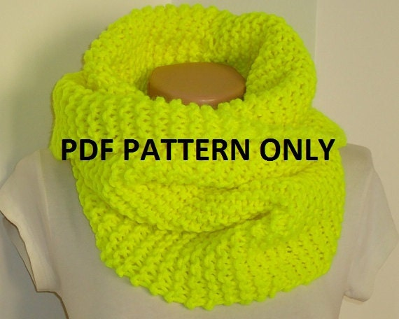 Simple Snood Knitting Pattern : PDF pattern easy knit snood PDF pattern knit snood by AYTULGIFT
