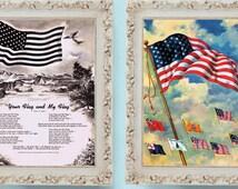 2x 1962 United States Flag Prints