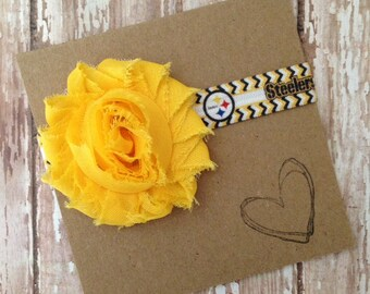 Pittsburgh Steelers Headband, Steelers, PA, Baby headband, Newborn, Football, NFL