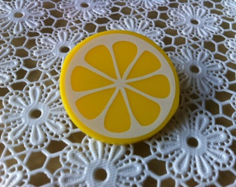 Lemon brooch or badge // Made in Rotterdam