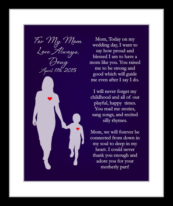gift from son wedding thank you gifts personalized poem gifts for