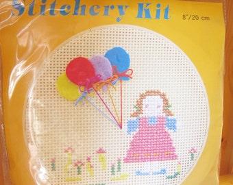 Stitchery / Embroidery Craft Kit, Embroidery Hoop, felt, Wall Decor, Home Decor, Easy Sewing Project, Cross Stitch, ShineKidsCrafts