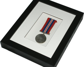 """Deep shadow box display frame, 8"""" x 6"""" for a medal, pocket watch, keepsakes, decoupage or any 3D items"""