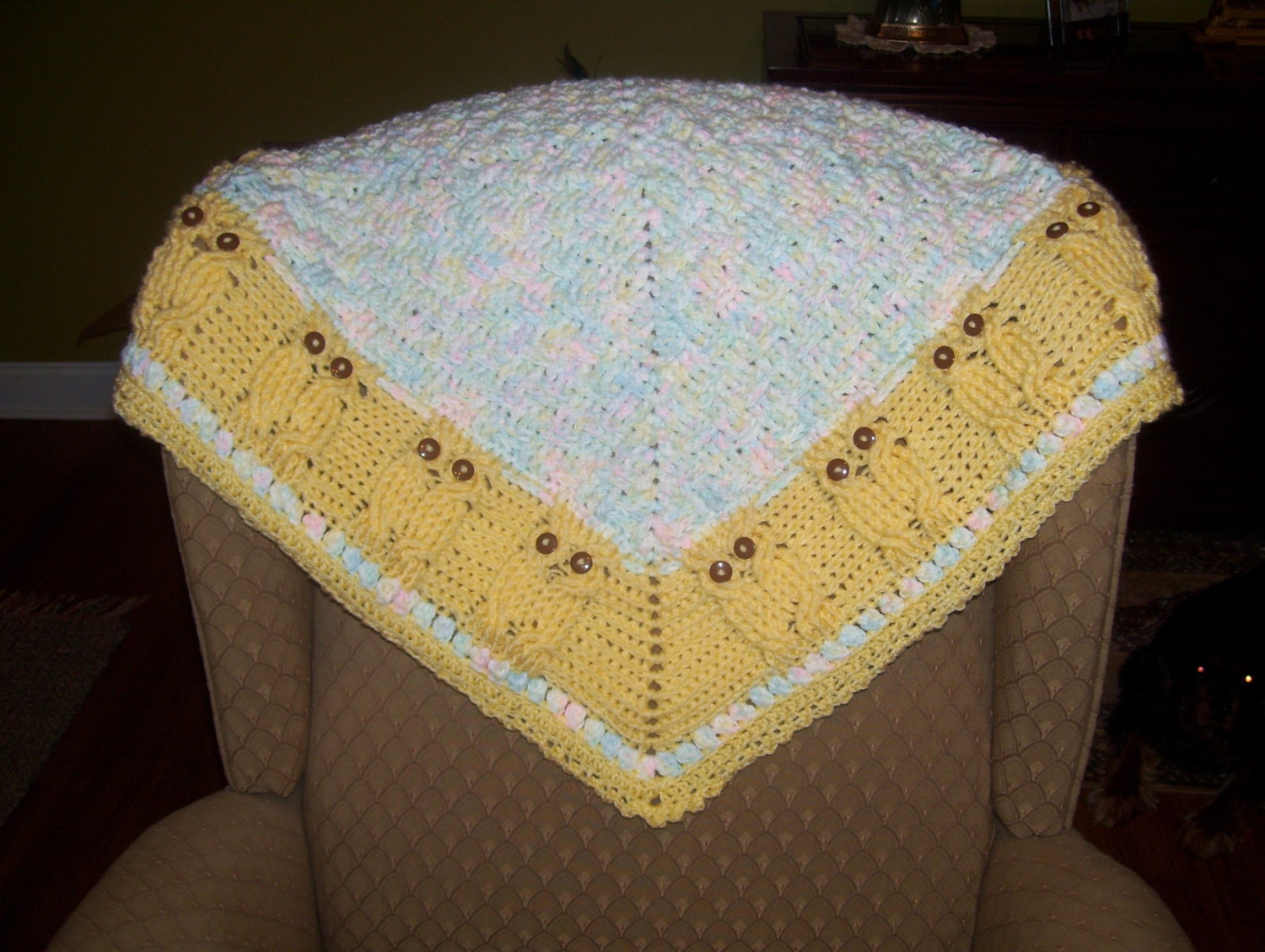 Crochet Owl Baby Blanket : Owl Crochet Baby Blanket by QueenieiisCrochet on Etsy