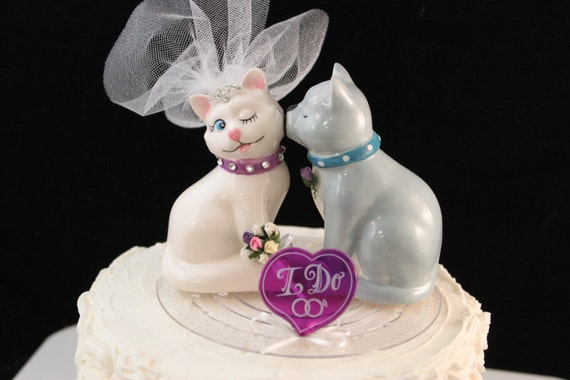 Bride and Groom Cat Cake Topper / Decoration / Cake Top