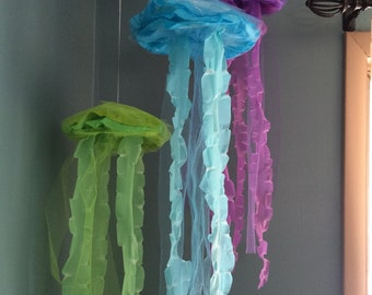 Jellyfish hanging decor bubble guppies under the sea mermaid party decor