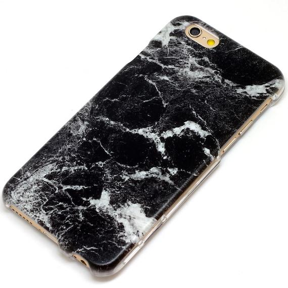 Case Design custom gel phone cases : Granite Slab Marble Black Stone Style Marble Phone Case iPhone 6, 7 ...