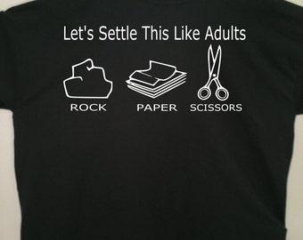 Rock, Paper, Scissors tshirt - funny tshirt