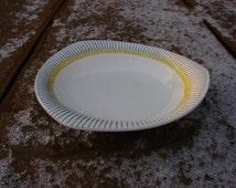 Swedish Vintage Original Modern style GEFLE PIGG pattern 7''  desert Bowl plate / Collectors Plate / Scandinavian plate Kjell Blomberg