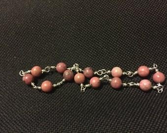 Rhodonite Bracelet Dark Pink