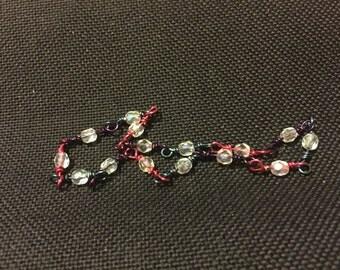 Bi Pride Bracelet Swarovski Crystal & Colored Wire
