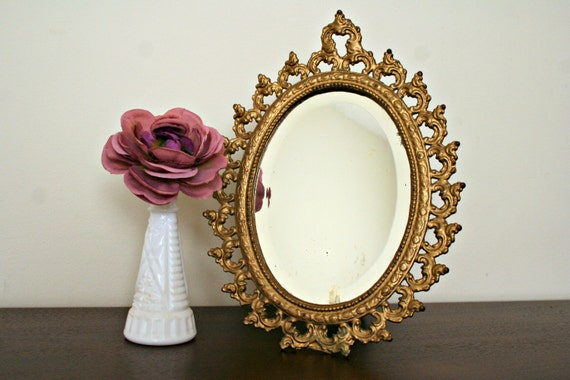 gold baroque table mirror ornate vanity mirror cast iron On baroque vanity mirror