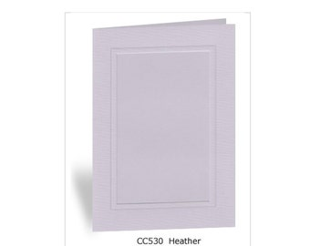Heather - 10 Photo Insert Note Cards - 100% recycled & made in the USA