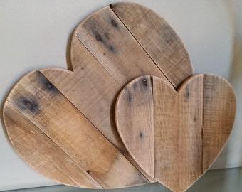 8 inch Rustic Reclaimed Wood Heart