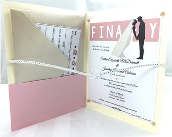 Tie-The-Knot (Finally) Wedding Invitation - Actually ties into a knot when you open it!!!