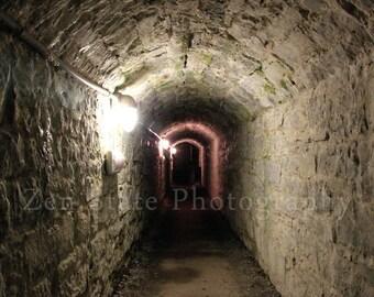 Dark Tunnel Fine Art Print. Spooky Surreal Photography. Surreal Art Print Dark Photography. Unframed Photography, Framed Photo, Canvas Print