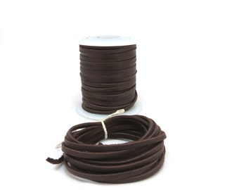 Deerskin Leather Cord, 3mm Brown Leather Cord, 2 Yards Dark Brown Leather Cord, Chocolate Brown Leather Cord, Item 487ct
