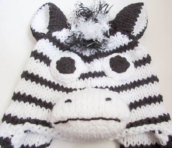 Knitting Pattern Zebra Hat Horse Hat Character Hat Animal