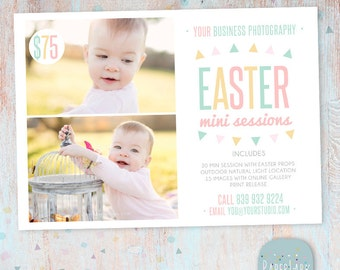 Easter Mini Session Marketing Board - Photoshop template - IE008 - INSTANT DOWNLOAD
