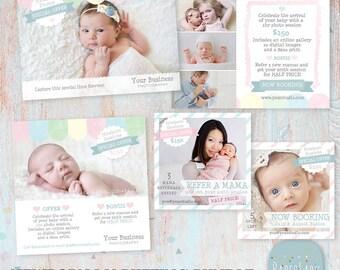 Newborn Photography Marketing Bundle - Refer a client - UN001 - INSTANT DOWNLOAD