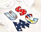Marine Corps Baby, USMC Baby Gift, Marine Corps Appliqué, Marine Kids Shirt, My Dad is a Marine, USMC Appliqué Shirt, Military Kids Shirt