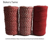 Baker's Twine 100 Metre Spool - Red Twine - 12 Ply (1.5mm) Cotton String