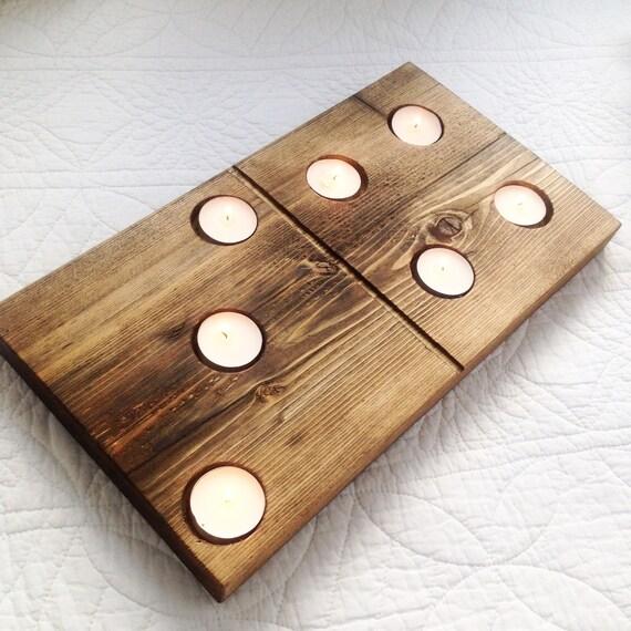 Bois r cup r domino en bois t l ger porte bougies - Porte bougie en bois ...