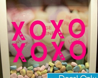 XOXO Decal for Shadow Boxes, Valentine's Day Gift