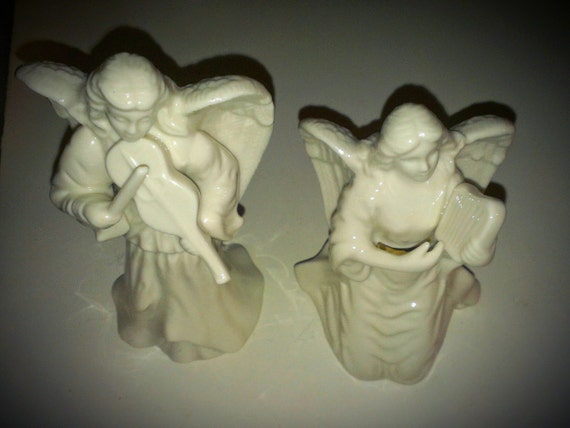 Vintage PAIR LENOX ANGELS Christmas Holiday By