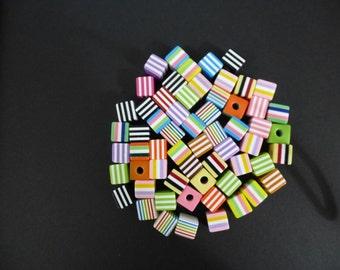 Liquorice all sorts beads.  30 loose beads